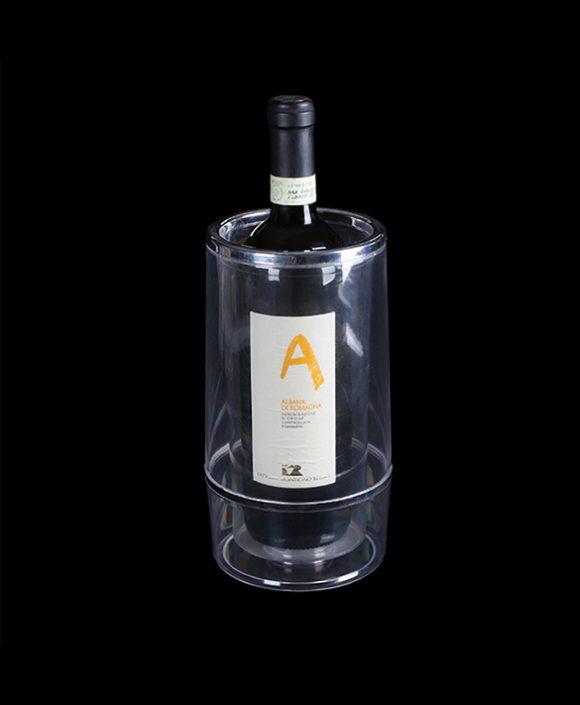 transparent bottle cooler