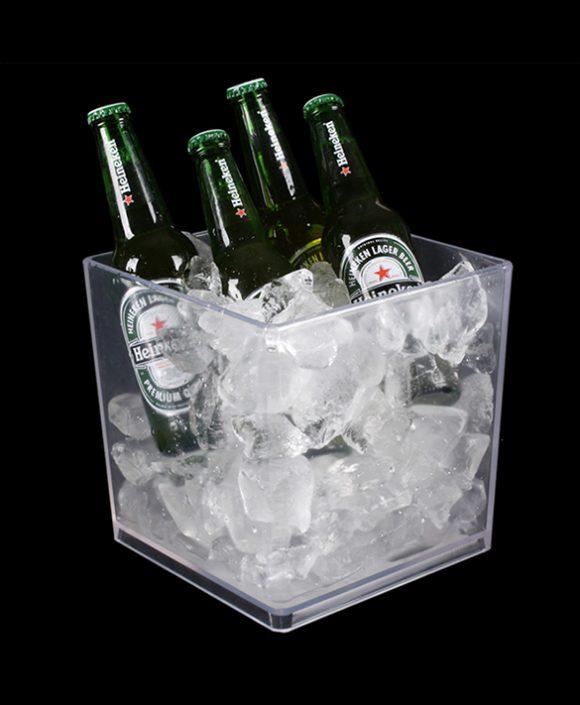 double wall plastic ice buckets