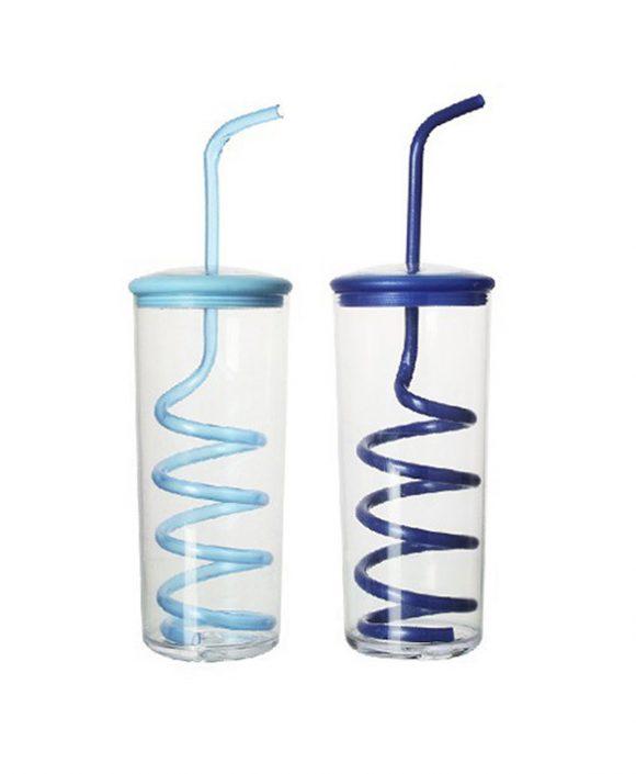 creative design plastic straw drinking cup ld-c112