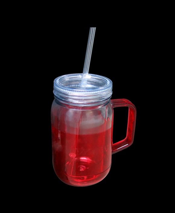 mason jar mugs with handle and straws ld-m104